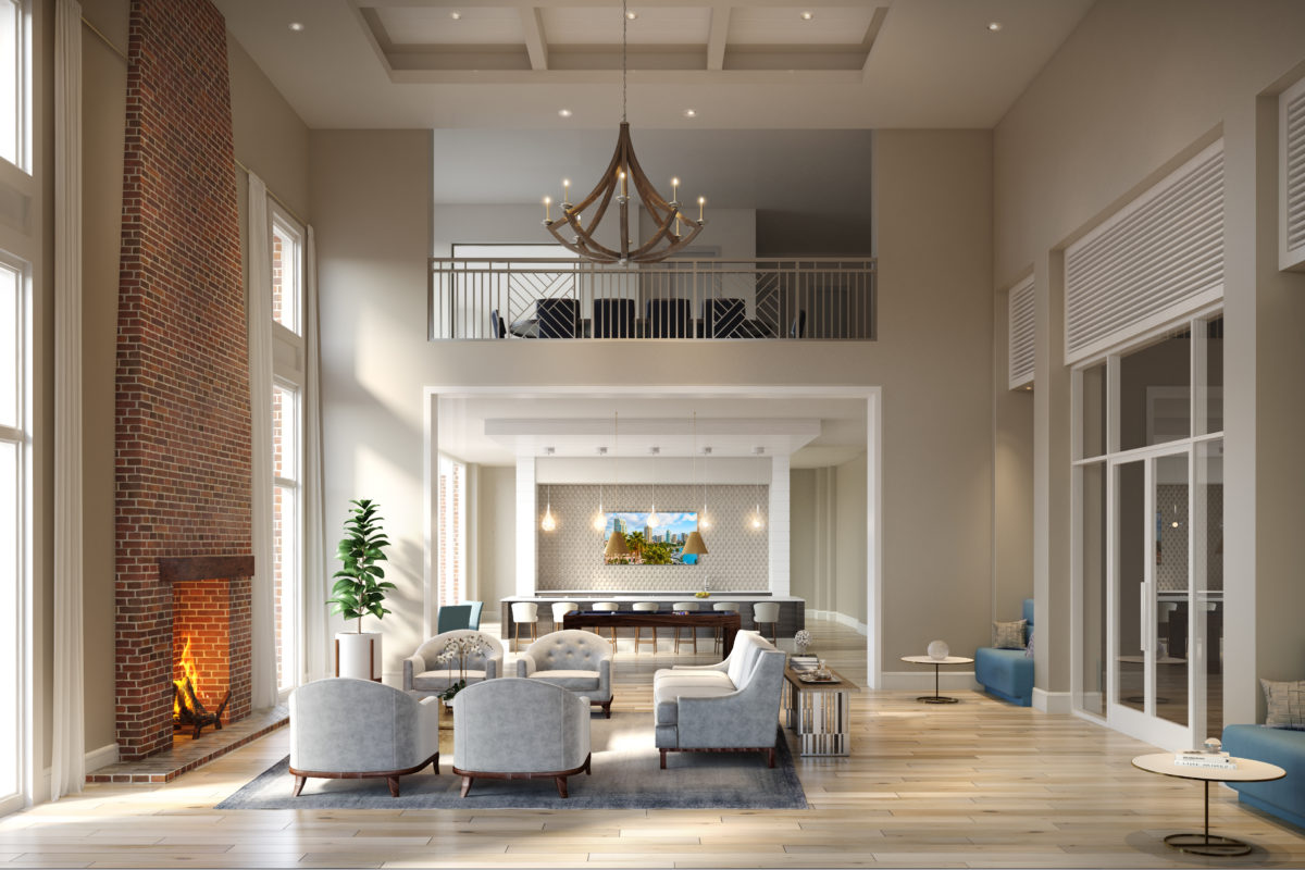 Resident clubroom at 255 Assay Luxury Apartment Community