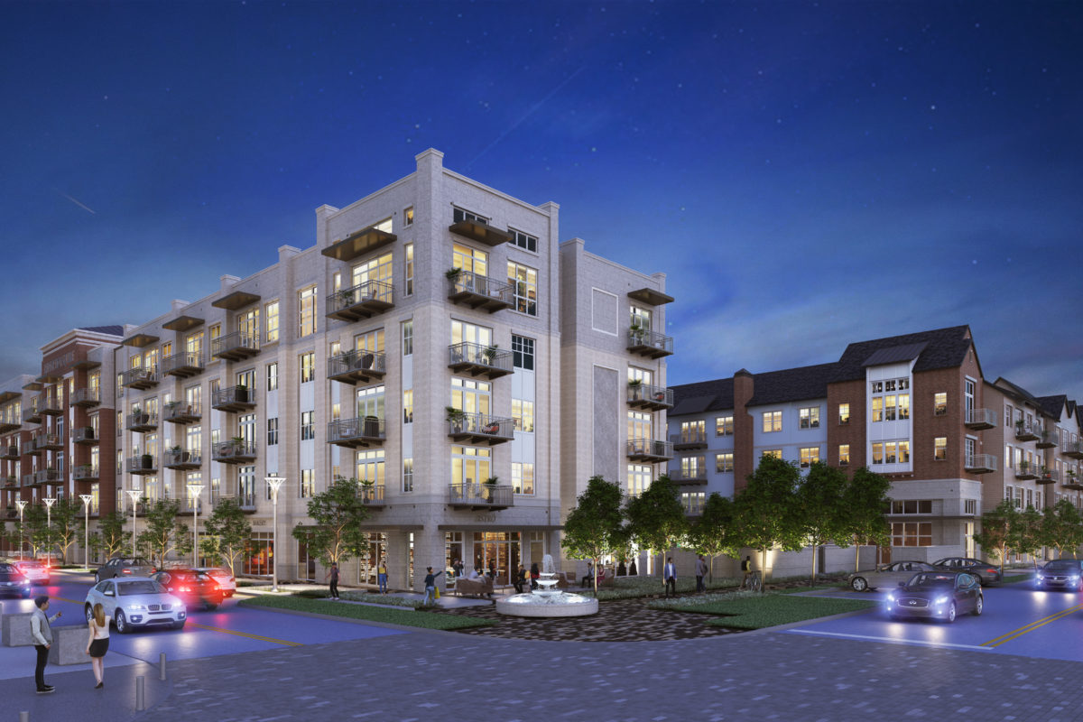 Exterior rendering of 255 Assay Luxury Apartment Community