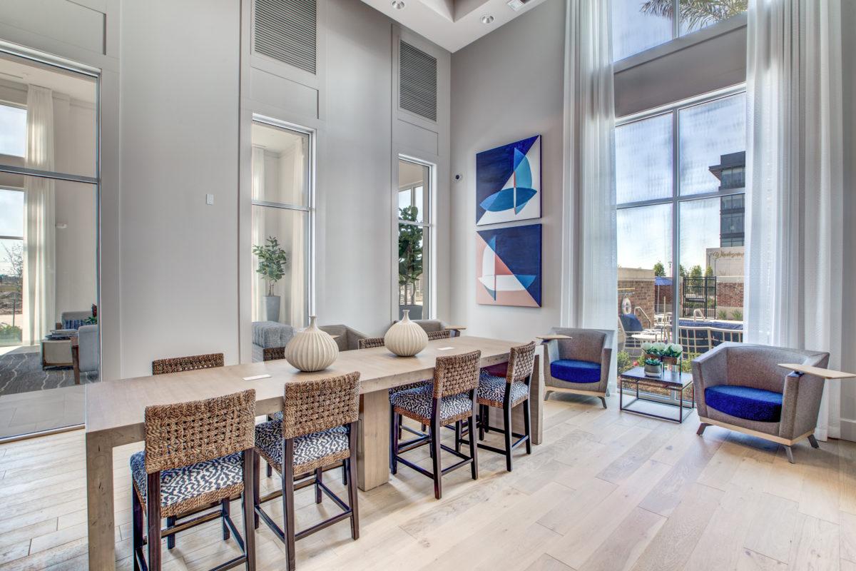 resident work lounge in luxury houston texas apartment