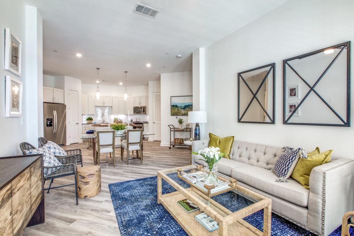 living room in luxury houston tx apartment