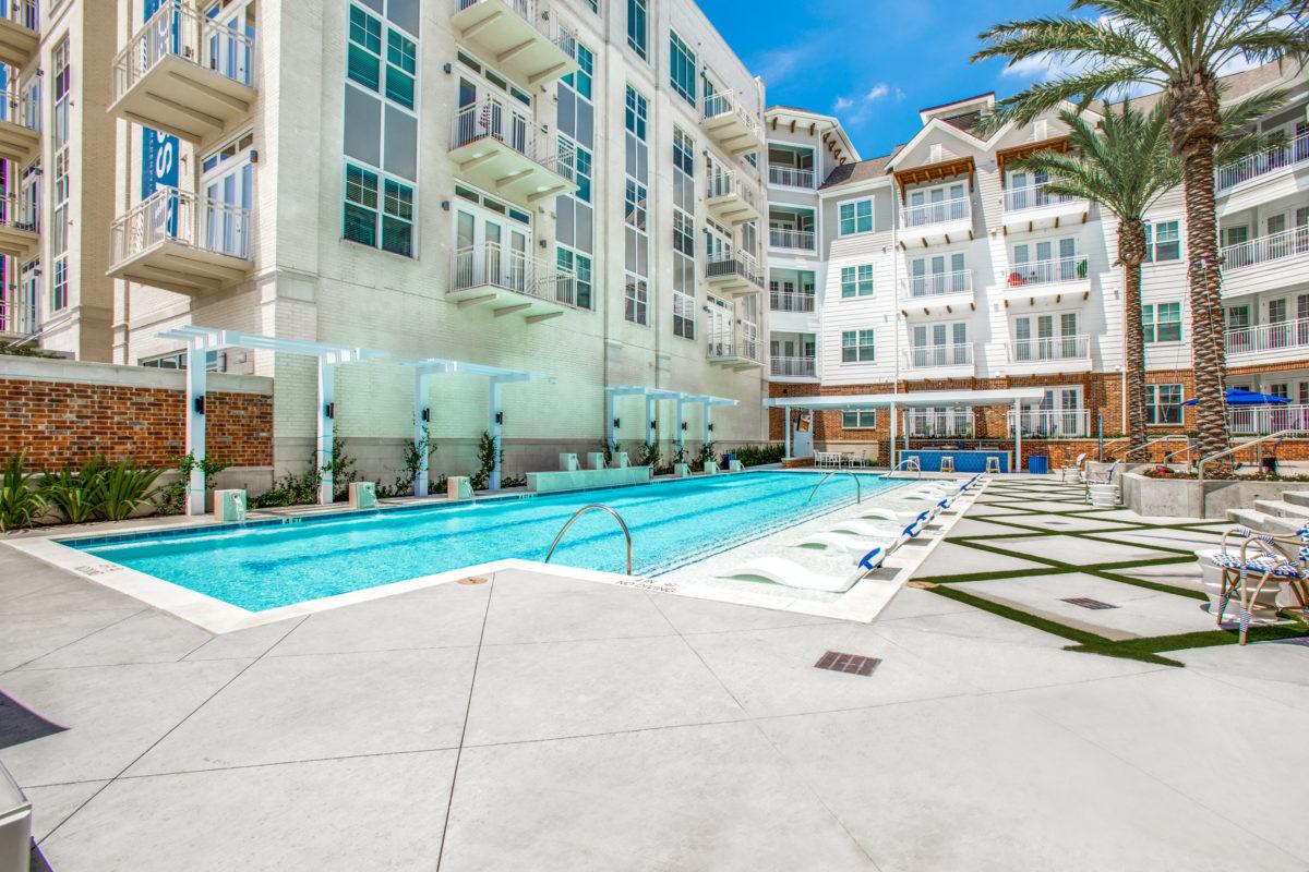 resident swimming pool in luxury houston tx apartment