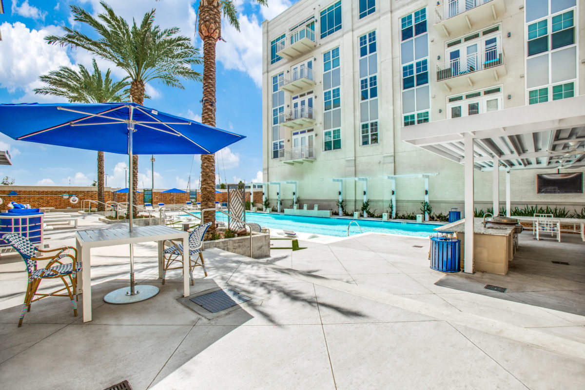 75' lap pool in luxury houston tx apartment