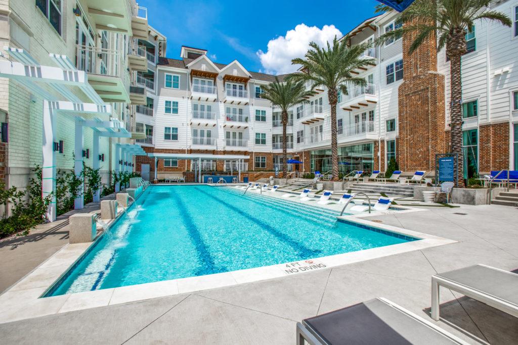 Resort Style Pool At Luxury Houston Apartment near Humble, TX